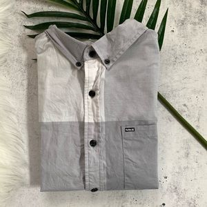 HURLEY▪️Cotton Button Front Short Sleeve Top. M
